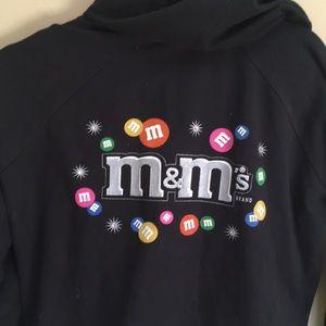 Black M&M Zipper Hoodie Jacket